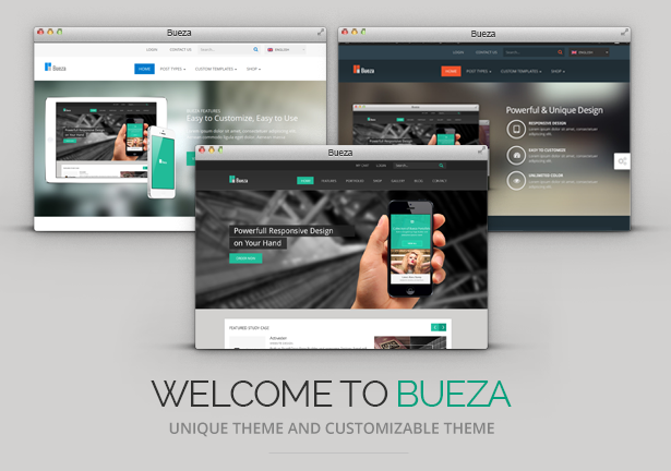 Bueza - Responsive Multi Purpose Theme